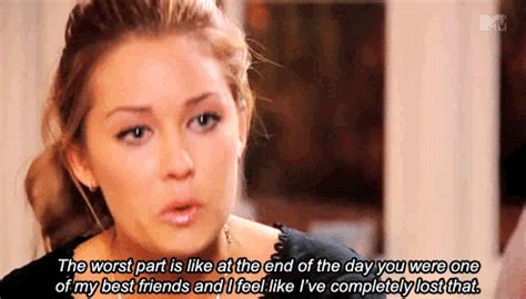 Lauren Conrad Meme - gif sad friends tv show lauren conrad fight best friends hard the hills complicated frenemies