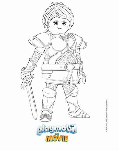 Playmobil Coloring Sheets Movies Fairy Pages Godmother