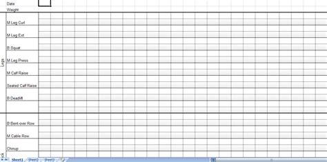 workout sheets workout sheet workout sheets template