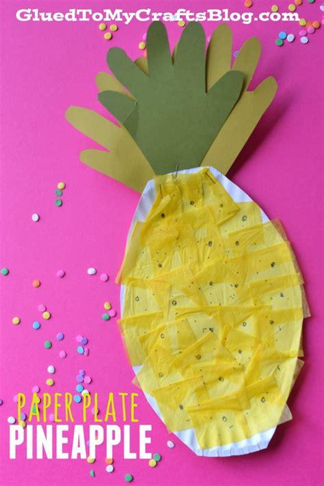 paper plate pineapple kid craft 669   pineapple 2 683x1024