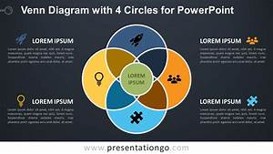 Venn Diagram With 4 Circles For Powerpoint