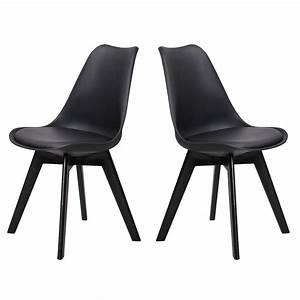 Chaise Pied Metal Noir : chaise helsinki noir pieds bois lot de 2 chaise design topkoo ~ Teatrodelosmanantiales.com Idées de Décoration