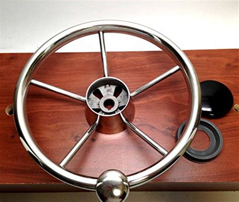 Boat Steering Wheel Not Turning by Marine Boat 5 Spoke Steering Wheel W Turning Knob 13 1 2