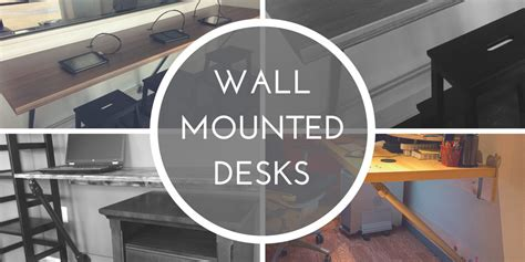 how to make a wall mounted desk wall mounted desks great for small spaces