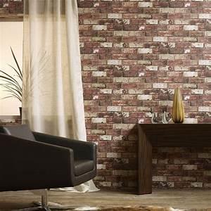 Graham & Brown 56 sq. ft. Brick Red Wallpaper