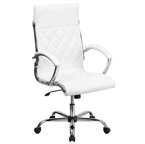 white executive desk chair high back designer white leather executive office chair