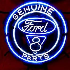 Business Custom NEON SIGN board Forautomobile Ford V8