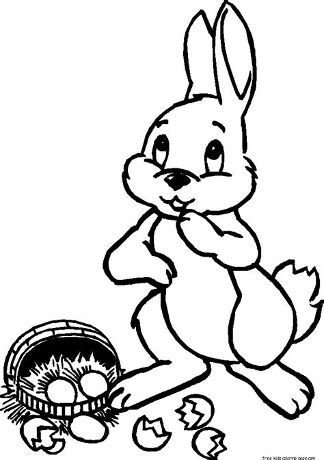 printable easter bunny  basket coloring pagesfree