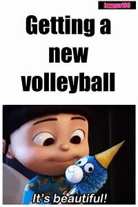 When I get a new volleyball... | Volleyball quotes ...