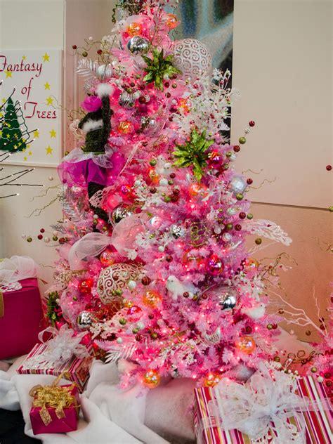 hot pink christmas tree shines bright hgtv