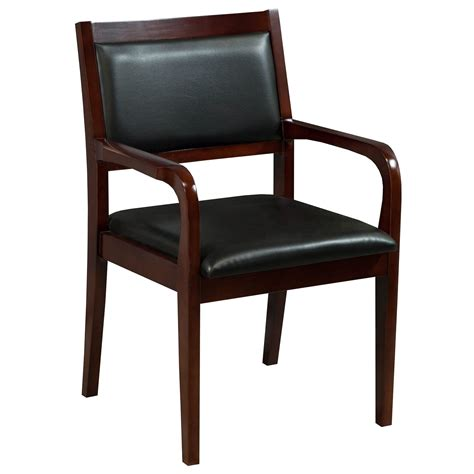 Caspian By Gosit New Executive Wood Guest Chair, Cherry