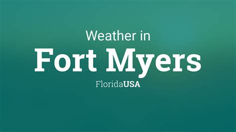 weather  fort myers florida usa