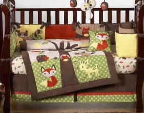 woodland creatures forest friends woodland animals baby bedding 9 pc crib set mitch