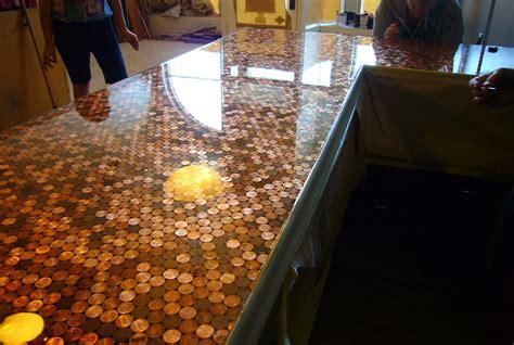 cents  sensibility   install  copper penny floor