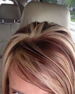 Hair color- highlights with brown red low lights Small ...