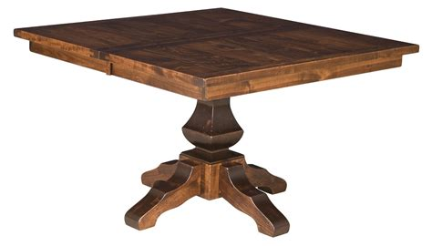 rustic square dining table amish rustic plank square dining table pedestal solid wood 5024