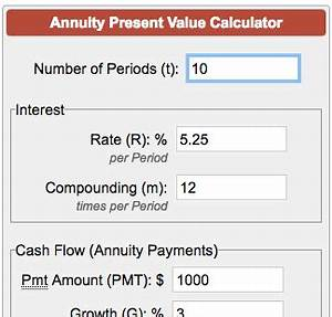 Annual Payment Formula Present Value Of Annuity Calculator