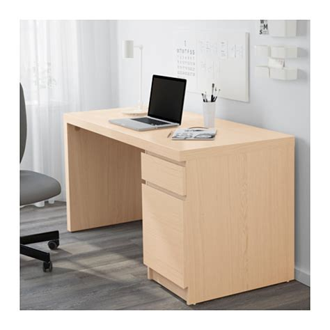 malm desk white stained oak veneer 140x65 cm ikea