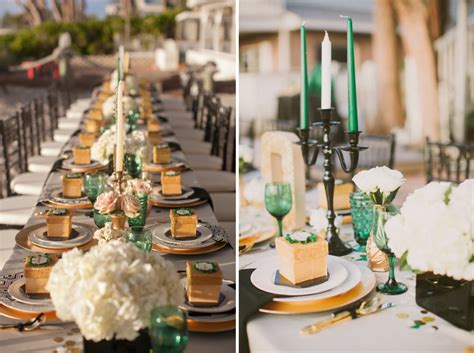 awesometastic bridal blog green  gold party