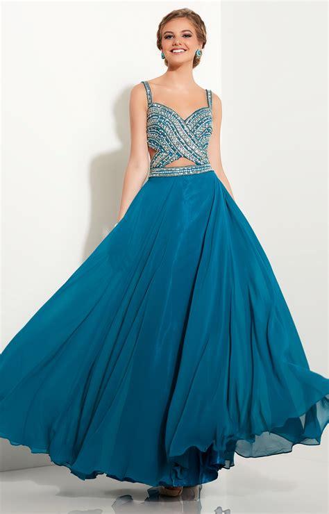 Studio 17 12633  Beaded Top Mock 2piece Chiffon Dress