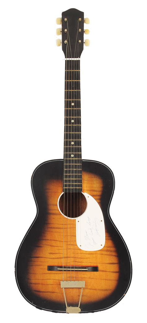 Lot Detail - Elvis Presley Signed and Inscribed Acoustic ...
