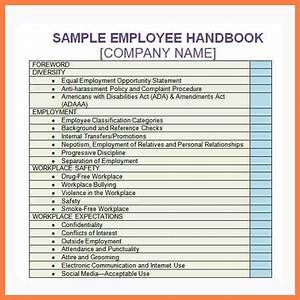 6 company handbook template company letterhead With company safety manual template
