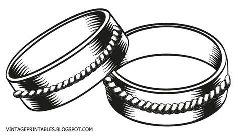 free vintage clip vintage wedding rings clip