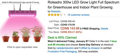 canada deals of the day save 66 on gun will travel 64 on roleadro 300w led grow