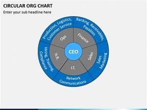 Circular Org Chart Powerpoint Template Sketchbubble