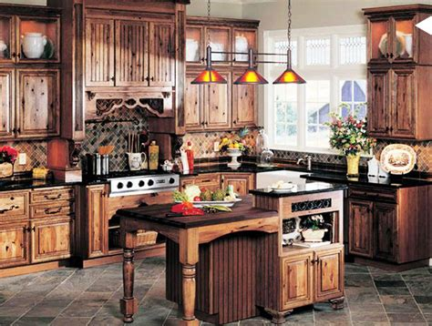 Rustic Kitchens : Best Colors For Rustic Kitchen Cabinets
