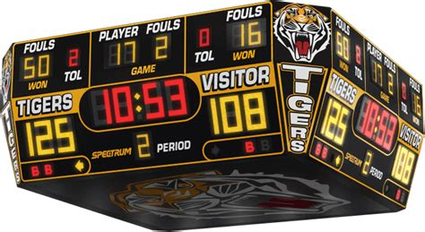high school gymnasium scoreboards  basketball