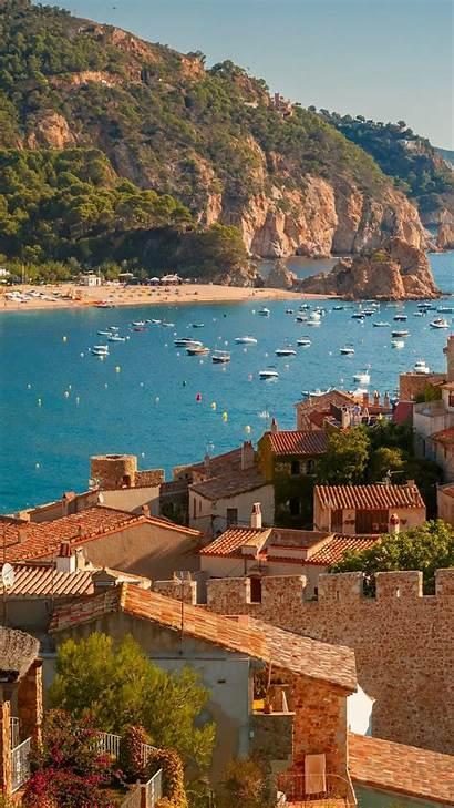 Spain Summer Mar Tossa Portrait Backiee Background