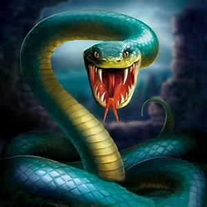 Ferocious cobra snake Diamond embroidery Diy Diamond