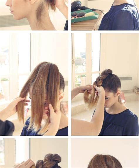 coiffure facile  faire pour cheveux mi long