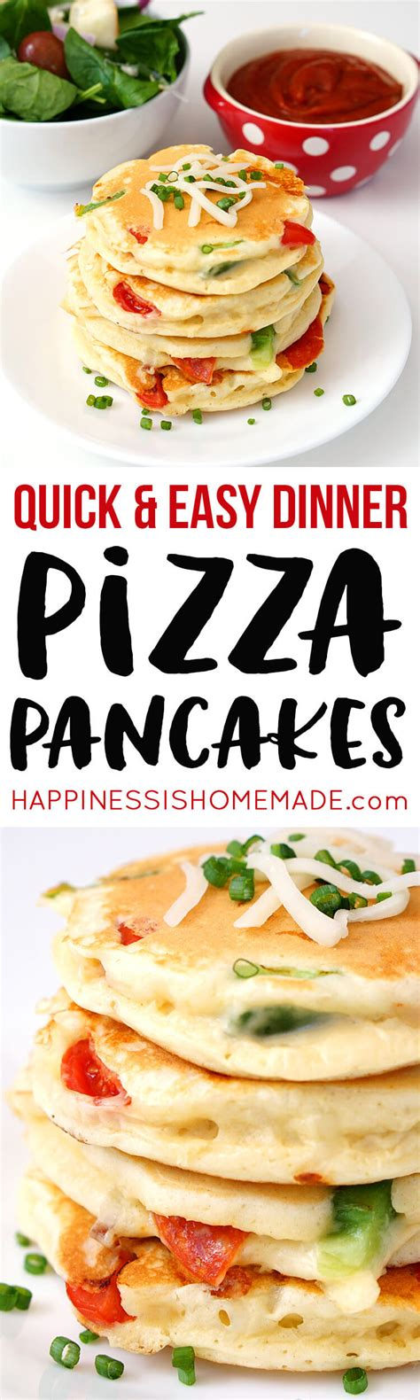 Pizza Pancakes  Quick & Easy Dinner Idea  Happiness Is