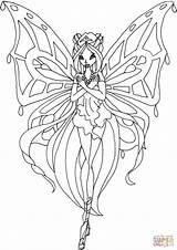 Enchantix Flora Kleurplaten Coloring sketch template