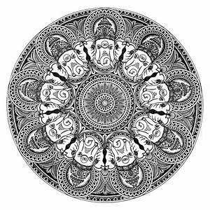 Ganesha Mandala by artist V Pugalenthi | Pen&Ink Drawings ...
