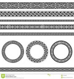 mediterranean designs traditional meander border and frame set stock vector image 47738940