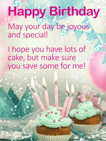 hope   lots  cake happy birthday wishes card