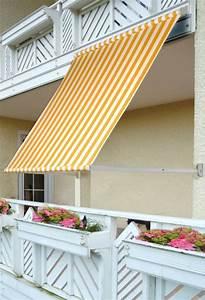 Fallarmmarkise markise sonnenschutz balkon 150x200 gelb ebay for Markise balkon mit dispersionskleber tapete