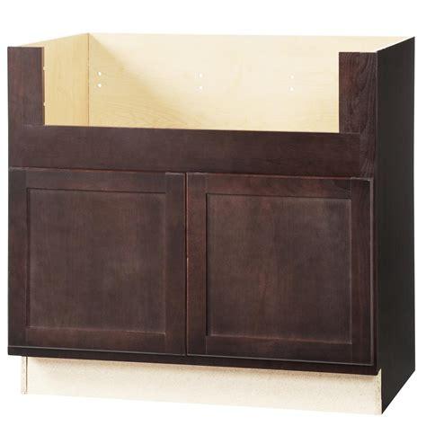 apron sink base cabinet hton bay shaker assembled 36x34 5x24 in farmhouse