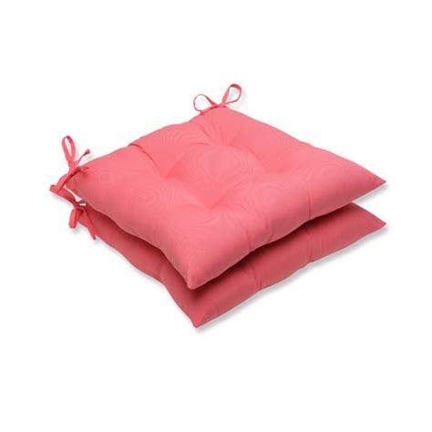 fresco pink outdoor wrought iron seat cushion set of 2
