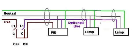 wiring diagram for standalone pir to security lights diynot forums