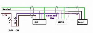 Wiring Diagram For Standalone Pir To Multiple Security Lights