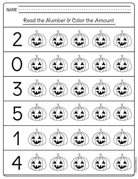 halloween kindergarten worksheets  math centers
