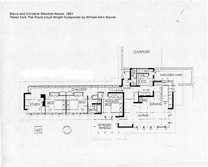 david and christine weisblat house plan 1951 frank With frank lloyd wright home designs