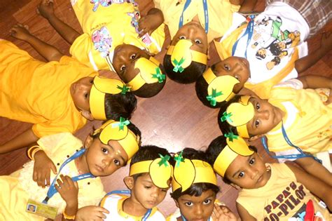 yellow day celebration in preschool millennium preschool early child development 143
