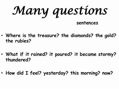 Sentences Alan Peat Many Questions Word Where