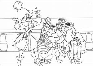 Captain Hook Make A Plan To Catch Peter Pan Coloring Page ...