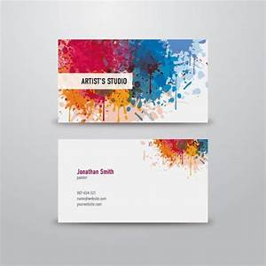 100 free business card templates designrfixcom for Artist business card examples